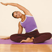 Yoga stretches for musicians